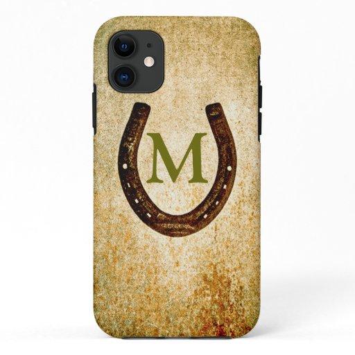 Horseshoe with Monogram to Personalize iPhone 11 Case