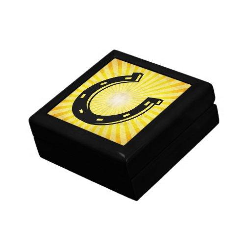 Horseshoe; yellow jewelry box