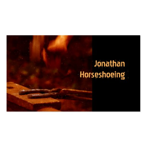 Horseshoeing modern business card