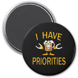 "HorseShoes 3"" Magnet - I Have Priorities"