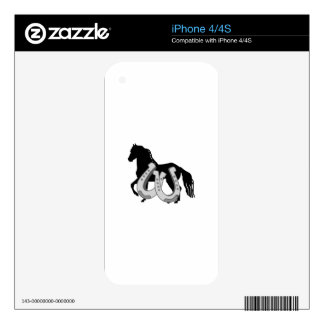 HORSESHOES AND HORSE iPhone 4S DECAL