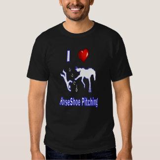 HorseShoes Basic Dark Tee-I love HorseShoe Pitchin T-Shirt
