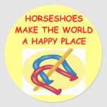 horseshoes classic round sticker