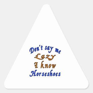 Horseshoes Designs Triangle Sticker