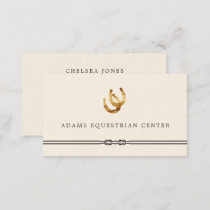 Horseshoes | Equestrian Center Riding Instructor Business Card