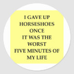 HORSESHOES.jpg Classic Round Sticker
