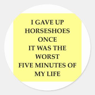 HORSESHOES.jpg Round Stickers