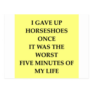 HORSESHOES.jpg Tarjeta Postal