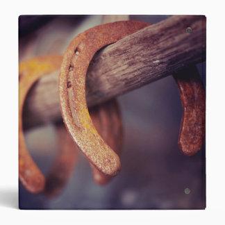 Horseshoes on Barn Wood Cowboy Country Western Binder