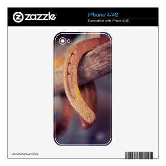 Horseshoes on Barn Wood Cowboy Country Western Decal For The iPhone 4S