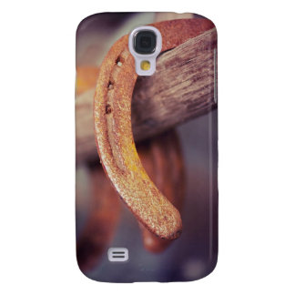 Horseshoes on Barn Wood Cowboy Country Western Galaxy S4 Case