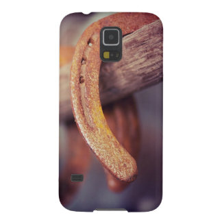 Horseshoes on Barn Wood Cowboy Country Western Galaxy S5 Cover