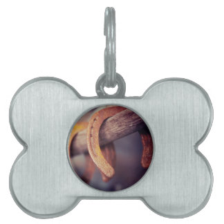 Horseshoes on Barn Wood Cowboy Country Western Pet ID Tag