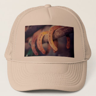 Horseshoes on Barn Wood Cowboy Country Western Trucker Hat
