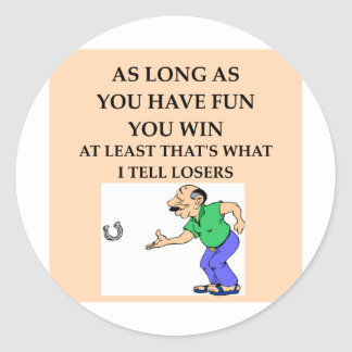 horseshoes.png classic round sticker