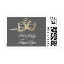Horseshoes Rustic Country Wedding Postage