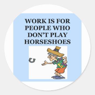 horseshoes round stickers