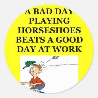 horseshoes stickers