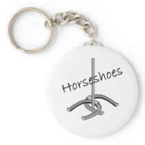 Horseshoes T-shirts and Gifts. Keychain