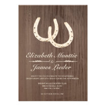 Horseshoes Wedding Invitations Personalized Announcements