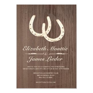 "Horseshoes Wedding Invitations 5"" X 7"" Invitation Card"