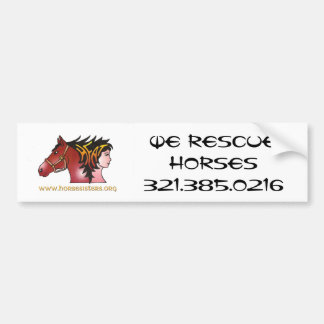 HORSESISTERS Bumper Sticker Car Bumper Sticker