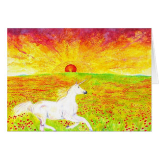 horsesunset greeting card