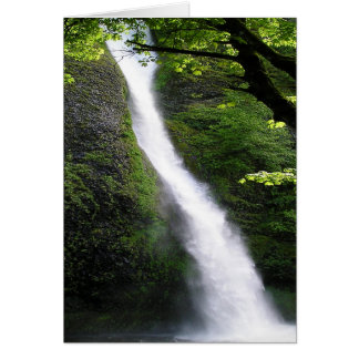 Horsetail Falls in Summer Card
