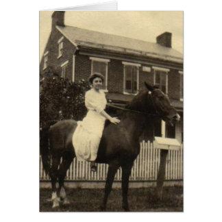 Horsewoman Card