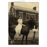 Horsewoman Greeting Card
