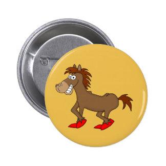 Horsey 2 Inch Round Button