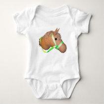 horsey baby bodysuit