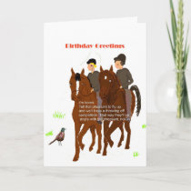 Horsey Birthday Card
