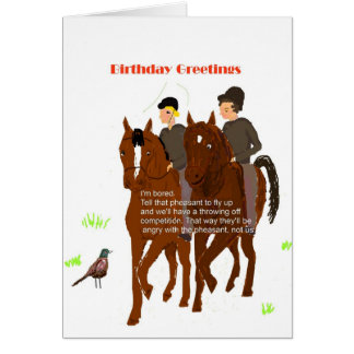 Horsey Birthday Card