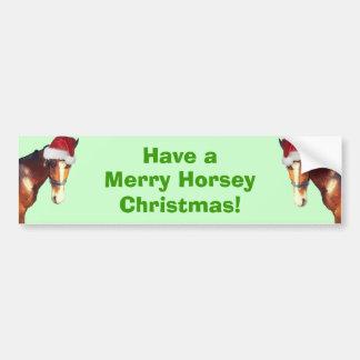 Horsey Christmas Bumper Sticker