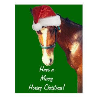 Horsey Christmas Postcard