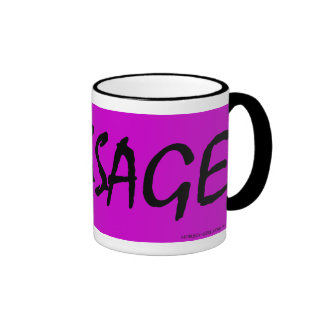 Horsey-Girl's Dressage Mug With Black Text on pink