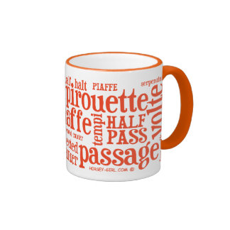 Horsey-Girl's Dressage Terms Mug in Orange