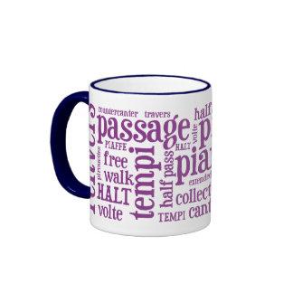 Horsey-Girl's Dressage Terms Mug in Pink
