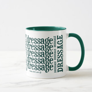 "Horsey-Girl's ""Dressage"" WordArt Mug -Hunter Green"