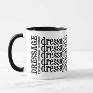"""Horsey-Girl's """"Dressage"""" WordArt Mug in Black"""