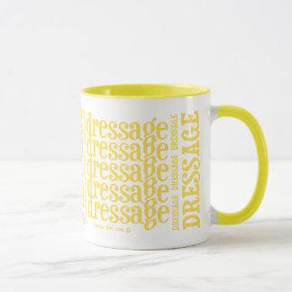 "Horsey-Girl's ""Dressage"" WordArt Mug in Lemon"
