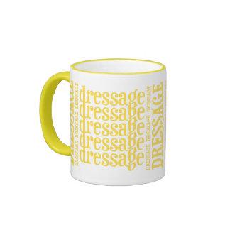"""Horsey-Girl's """"Dressage"""" WordArt Mug in Lemon"""