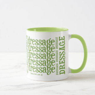 "Horsey-Girl's ""Dressage"" WordArt Mug in Lime"