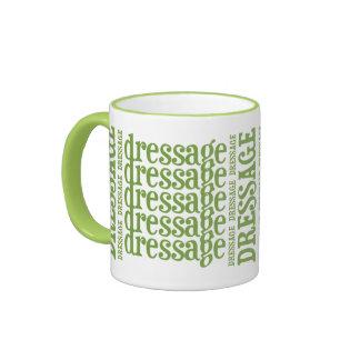 """Horsey-Girl's """"Dressage"""" WordArt Mug in Lime"""