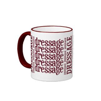 """Horsey-Girl's """"Dressage"""" WordArt Mug in Maroon"""