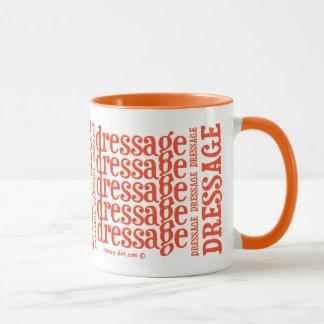 "Horsey-Girl's ""Dressage"" WordArt Mug in Orange"