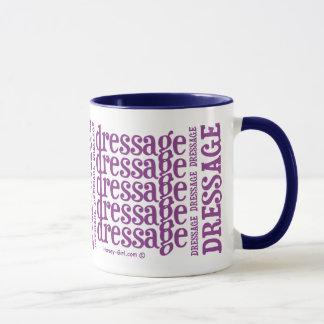 "Horsey-Girl's ""Dressage"" WordArt Mug in Pink"