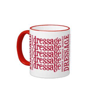 """Horsey-Girl's """"Dressage"""" WordArt Mug in Red"""
