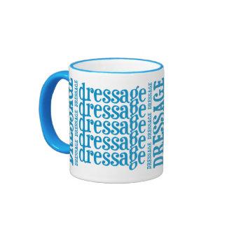 """Horsey-Girl's """"Dressage"""" WordArt Mug in Turquoise"""